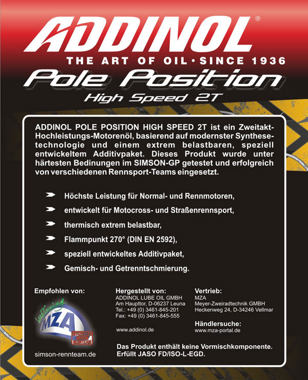120ml addinol pole position high speed 2t l. Black Bedroom Furniture Sets. Home Design Ideas