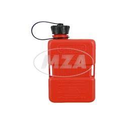 FuelFriend-PLUS - Mini-Benzinkanister, Kraftstoffkanister, Notreserve -  1,0-Liter (1,0L), rot, schwarze Verschraubung -