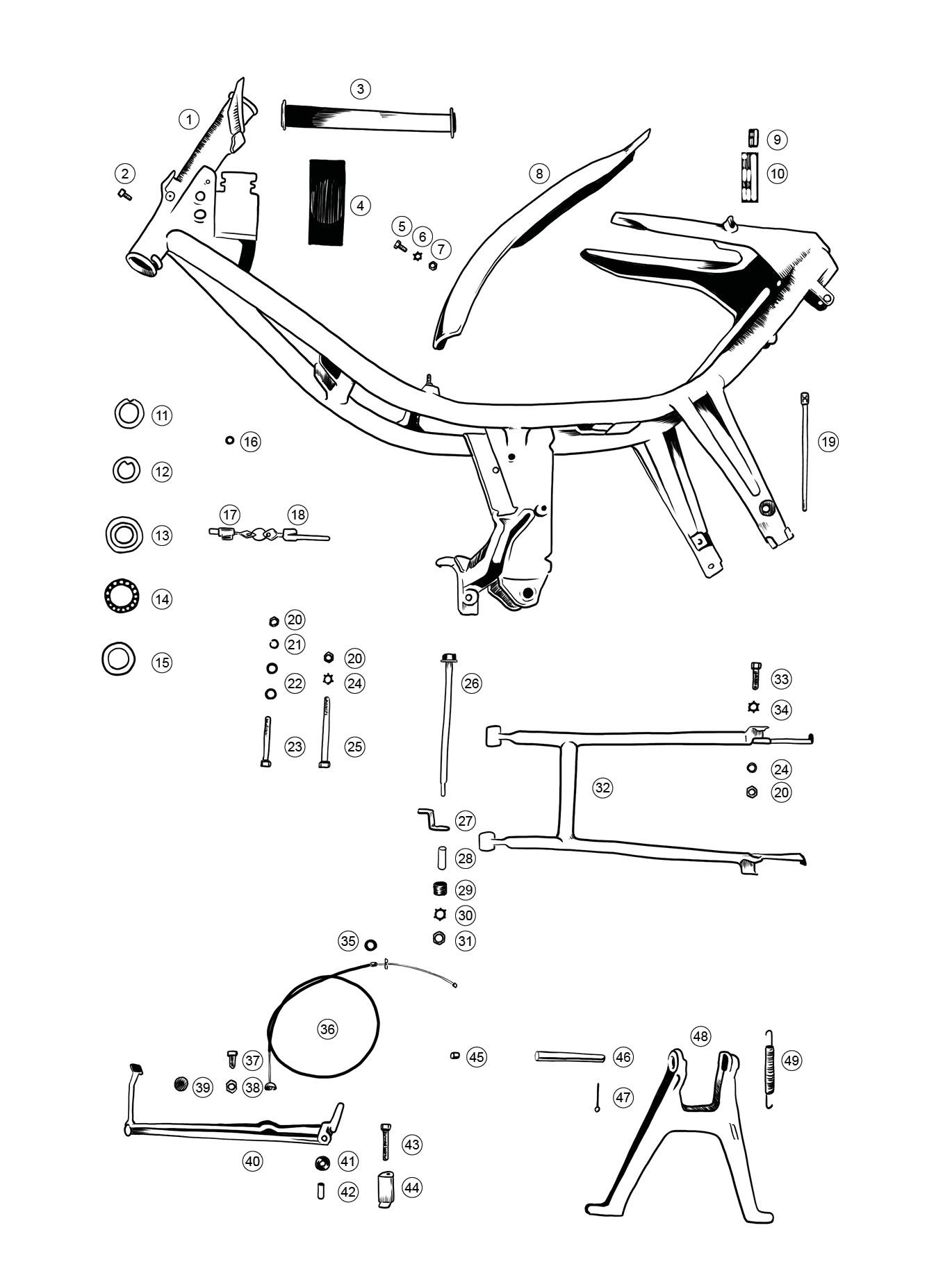 gute explosionszeichnungen kr51 1 simson forum. Black Bedroom Furniture Sets. Home Design Ideas